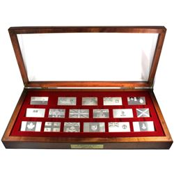 *The Official Flags of Canada Sterling Silver 16-Piece First Edition Proof Set Struck by the Frankli