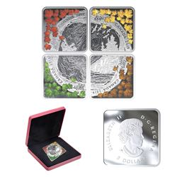 2019 Canada $3 The Elements Fine Silver Coin Set (one of the capsules is scuffed). TAX Exempt