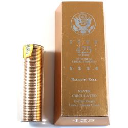 2009 USA Presidential Dollar William Henry Harrison Uncirculated Ballistic Roll of 50pcs in 425 Net