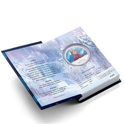 2016 Niue $2 Disney Frozen - Anna 1oz Coloured .999 Fine Silver Proof Coin in Original Book Style Ca