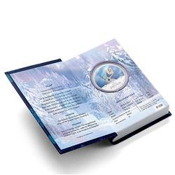 2016 Niue $2 Disney Frozen - Olaf 1oz Coloured .999 Fine Silver Proof Coin in Original Book Style Ca