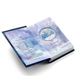 2016 Niue $2 Disney Frozen - Elsa 1oz Coloured .999 Fine Silver Proof Coin in Original Book Style Ca