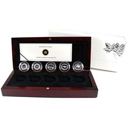 2012 Canada 1-cent Farewell to the Penny 5-coin Fine Silver Set (TAX Exempt).