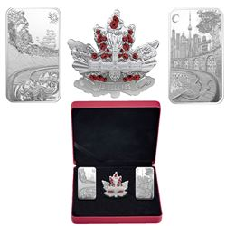 2018 Canada Beneath thy Shining Skies Fine Silver 3-Coin Set (2x $25 & 1x $10 set conatins approx 3.