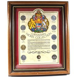 *Canadian Nickel Collection 11-coin Set in Wooden Frame. You will receive an example of every Canadi