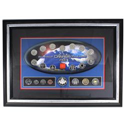*2000 Canada Millennium 20-coin Set in Wooden Frame. You will receive the 12-coin 25-cent oval set,