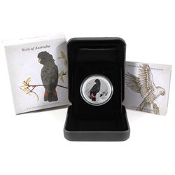 2013 Birds of Australia 50-cent Red-Tailed Black-Cockatoo 1/2oz Coloured .999 Fine Silver Proof Coin