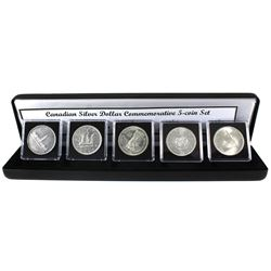 1939-1967 Canadian Silver Dollar Commemorative 5-coin Set Featuring Every Commemorative Canadian Sil