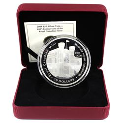 2008 Canada $50 100th Anniversary of the Royal Canadian Mint Fine Silver Coin (missing outer sleeve)