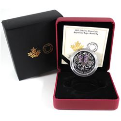 2017 Canada $20 Bejeweled Bugs - Butterfly Fine Silver Coin (TAX Exempt). Issued by the Royal Canadi