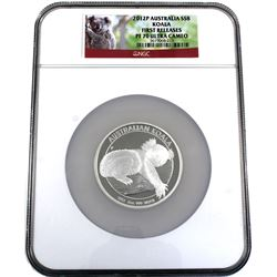 2012P Australia 5oz Silver $8 Koala NGC PF 70 Ultra Cameo First Releases (TAX Exempt).