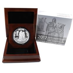 2017 Canada $100 10oz Fine Silver 150th Anniversary Of Confederation Medal - Canadian Heritage Mint