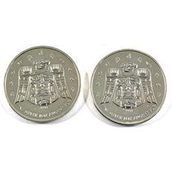 2009 Canada $5 1oz .9999 Fine Silver Olympic Ravens (toned). 2pcs (TAX Exempt)