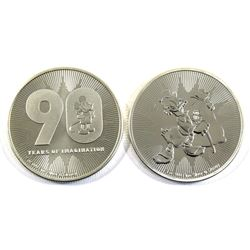 2018 Niue Scrooge McDuck & Mickey Mouse 90 Year of Imagination 1oz .999 Fine Silver Coins (Mickey Mo