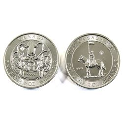 2020 Canada RCMP & Creatures of the North - Kraken 2oz .9999 Fine Silver Coins. 2pcs (TAX Exempt)