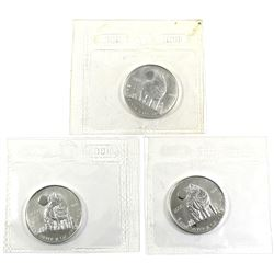 2006 Canada 1/2oz .9999 Fine Silver Wolf in Sealed Mint Plastic (lightly toned). 3pcs (TAX Exempt)
