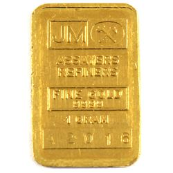 1 Gram Johnson Matthey .9999 Fine Gold Bar (TAX Exempt).