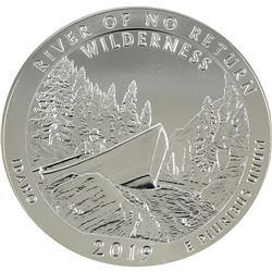 2019 Idaho 5oz .999 Fine Silver River of No Return Commemorative US Quarter Dollar (lightly scratche