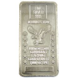 10oz Minted From Commodity Exchange Good Delivery 1000oz Bar .999 Fine Silver Bar (scratched). TAX E