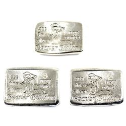 1oz, 2oz & 3oz Beaver Bullion .999 Fine Silver Bars. 3pcs (TAX Exempt)