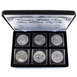 2011-2013 Canada 1oz Wildlife Series .9999 Fine Silver Maple Leafs Encapsulated in Black Display Box