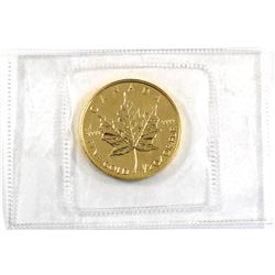 2003 Canada 1/2oz .9999 Fine Gold Maple Leaf in Sealed Mint Plastic (TAX Exempt).