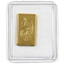 Pamp Suisse 1 Gram .9999 Fine Gold Bar in Sealed Plastic (TAX Exempt).