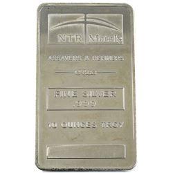 10oz NTR Metals .999 Fine Silver Bar (toned). TAX Exempt