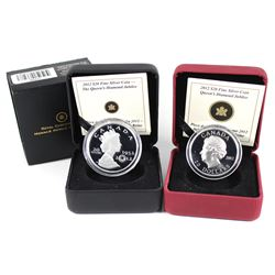 2012 Canada $20 Queens Jubilee UHR & Queens Jubilee with Crystal Fine Silver Coins (Tax Exempt). Ple