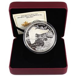 2014 Canada $50 Aboriginal Story - Legend of the Spirit Bear 5oz Fine Silver Coin (TAX Exempt). Miss