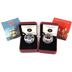 2012 Canada $10 War 1812 - HMS Shannon & 2013 Canada $10 Holiday Candles Fine Silver Coins (TAX Exem
