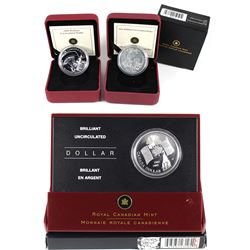 2005, 2008, 2011 Canada Brilliant Uncirculated Dollar Collection. Please note 2008 Is missing outer