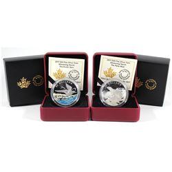 2017 Canada $20 Glistening North - Polar Bear & Arctic Tern Fine Silver Coins (TAX Exempt). 2pcs.