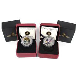 2013 Canada 25-cent Mallard & Wood Duck Coloured Coin Set. 2pcs.
