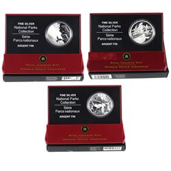 2005 & 2006 Canada $20 National Parks Commemorative Fine Silver Coins (TAX Exempt). You will receive