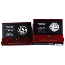 2005 Canada $1 Special Edition - Saskatchewan & Alberta Centennial Fine Silver Proof Coins (Tax Exem