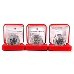 1998-2000 Canada $5 Privy Fine Silver Maple Leaf Collection (TAX Exempt). You will receive the 1998