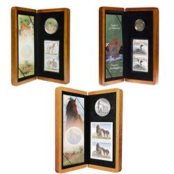2004-2006 Canada Coin and Stamp Set Collection. You will receive the 2004 Elusive Loon Set, 2005 Dee