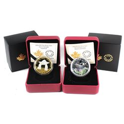 2016 & 2018 Canada $10 Commemorative Fine Silver Coin Set (TAX Exempt). You will receive the 2016 In