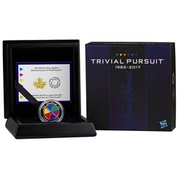 2017 Canada $25 35th Anniversary of Trivial Pursuit Fine Silver Coin (TAX Exempt).