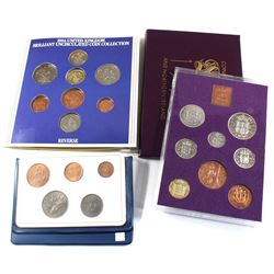 Lot of United Kingdom Coin Sets - Britain's First Decimal Coins 5-coin Set in Blue Wallet Folder, 19