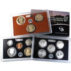 2016 United States Mint Silver 13-coin Proof Set. Low mintage year!