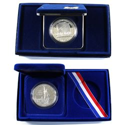 1986 & 1987 United States Silver Proof Commemorative Dollars - 1986 Statue of Liberty Centennial & 1
