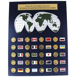*Flags of the World Coin Set Featuring 20 Different Coins with the Country's Respective Flag Picture