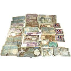 38x Mixed French Banknotes. 38 pcs