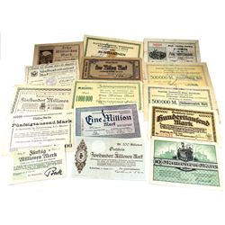 Estate Lot of Germany Notgeld Currency Notes. You will receive all different pieces of scarcer examp