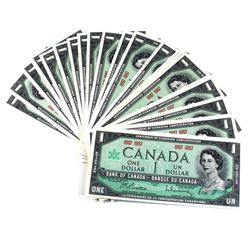 1867-1967 Bank of Canada Centennial No Serial Number $1 Banknotes UNC+. 25pcs