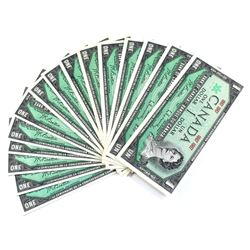 1867-1967 Canada $1 Confederation Centennial Banknotes No Serial Number UNC+. 15pcs