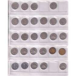 Canada 5-cent Collection date ranges between 1922-2019. You will receive one of each date and some C