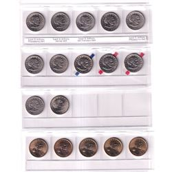 United States Dollar Collection 1979-2017. You will receive 47 pcs dated between 1979 and 2017.